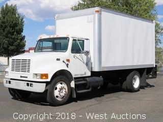 2001 International 4700 Diesel 4x2 16' Box Truck with Lift Gate