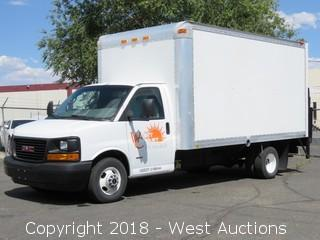2006 GMC Savana G3500 15' Diesel Box Truck with Lift Gate
