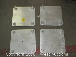 (4) Aluminum Truss Stands 1' x 1'