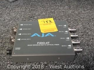 Aja FiDO-4T Quad SD/HD/3G SDI to SDI to Optical
