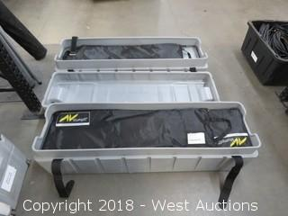 Complete 9x12 Screen Kit with Frame And (2) Portable Road Cases