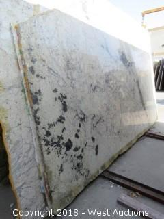 "Bianco Romano 119"" X 69"" 2cm Granite Slab"