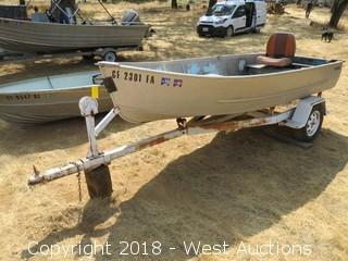 Seaking 12' Aluminum Boat with Trailer