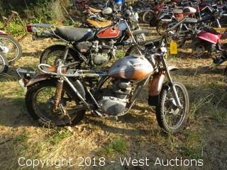 1972 Honda SL175 Motorcycle (For Parts)