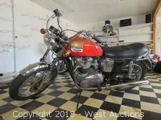 1973 Triumph 750 Bonneville Motorcycle