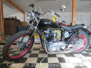 1956 Triumph Bobber 650CC Speed Twin Motorcycle