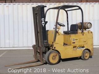 CAT T80C 8000 LB Capacity Propane Forklift
