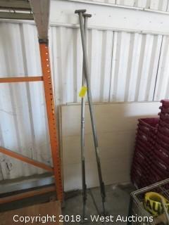 (2) Metal Extension Poles