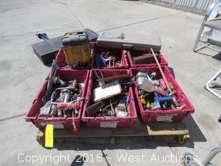 Contents of Pallet: Tools, Tool Boxes, Tool Attachments