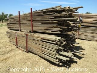 "Bulk Lot: (2) Bundles Of 10'-12' 1""x3"" Orchard Tree Props With Forkliftable Organizers"