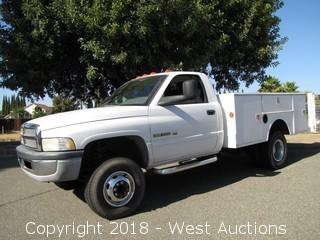 2002 Dodge Ram 3500 Dually Utility Bed Truck