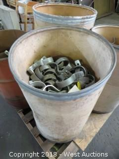 "Container Of 3-1/2"" EMat & Cond. Pipe Clamps"