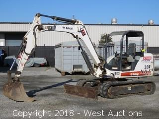 2007 Bobcat 337 Compact Excavator with 341 Long Arm and Bucket