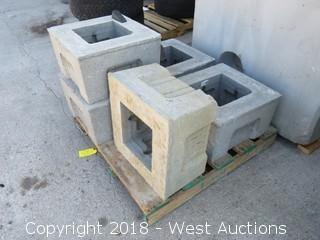 """(5) Oldcastle Precast 12"""" Extensions, (2) 11"""" Sewer Covers"""