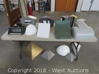 (14) Assorted Small Light Fixtures and Casings