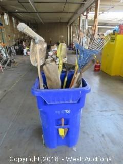 (13) Hand Tools: Shovels, Rakes, Bolt Cutters (No Trash Bin)