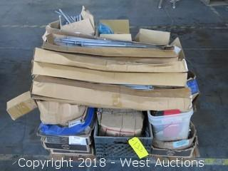Pallet: (25)+ Boxes of Lag Screws, Bolts, and Nails