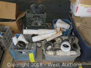 Pallet: (5) Totes of Commercial PVC/Plastic Pipe Fittings