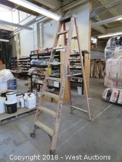 Husky 8' Fiberglass Folding Ladder