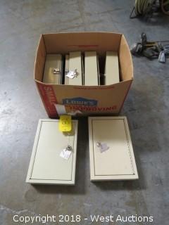 """(6) 1' x 8"""" Key Boxes"""