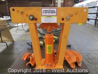 12-Ton Pipe Bender with (6) Attachments