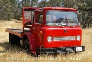 1966 International Long Tilt Flatbed Truck