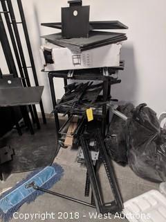 (10+) Assorted TV Mounts on Cart