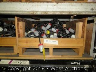 Bulk Lot: (30)+ L6-20 Twist Lock Cable Splitters With Crate
