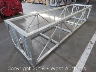"Rectangular Aluminum Lighting Truss 24.5"" x 30"" x 9.5'"