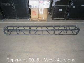 "Square Black Aluminum Lighting Truss 12"" x 12"" x 8'"