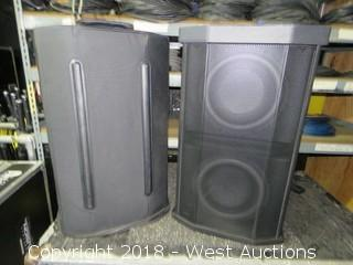 (2) BOSE F1 Loud Speakers and Subwoofers with Rigging Stands