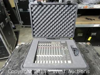 MACKIE Micro Series 1402-VLZ 14-Channel Mic/Line Mixer Rolling Road Case