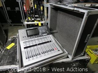 YAMAHA TF1 Digital Mixing Console and Apple Airport Express in Road Case