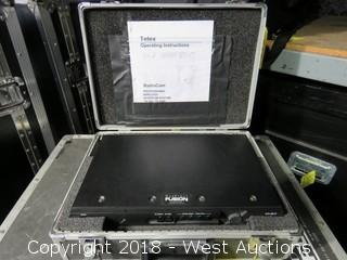 "TELEX Wireless Intercom System in Road Case: 18"" WIDE x 13"" DEEP x 6"" HIGH"