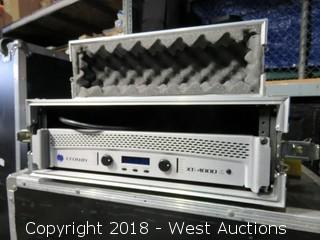 "Crown Amplifier XTi 4000 in Road Case: 22"" WIDE x 7"" DEEP x 21"" HIGH"
