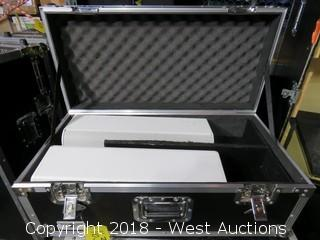 (2) JBL CBT Series (Model: 50LA) Speakers in Road Case