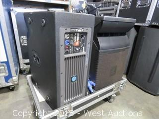 "(2) JBL VRX932LAP Speakers in Road Case: 31"" WIDE x 20"" DEEP x 32"" HIGH"