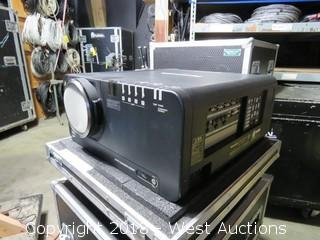 Panasonic PT-DZ12000U Projector in Rolling Road Case