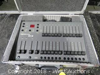 Leprecon 612 Lighting Console in Road Case