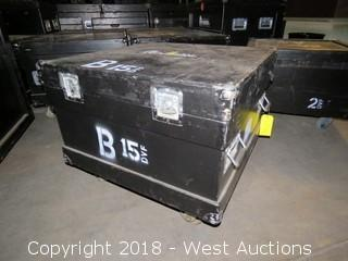 "31""x31""x19"" Portable Wooden Road Case"