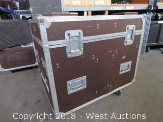 "Rolling Road Case: 24"" WIDE x 38"" LONG x 35"" HIGH"