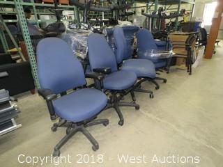 (7) Blue Adjustable Desk Chairs