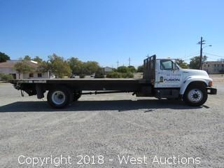 1998 Ford F800 Diesel 20´Flatbed Truck