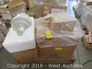 Pallet: (24) Boxes Of Commercial Traffic Signal Bulbs And Balasts