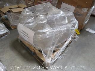 (6) Acrylic Street Light Lantern Globes