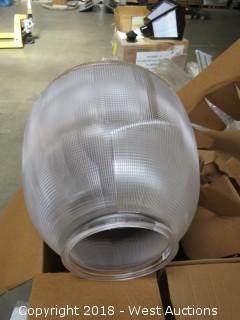 (3) Holophane Lighting FXT Globe Granville Post Light