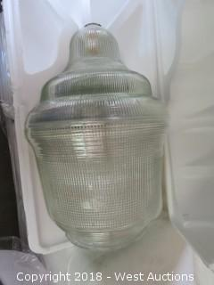 (12) Glass Commercial Lamp Globes (New)