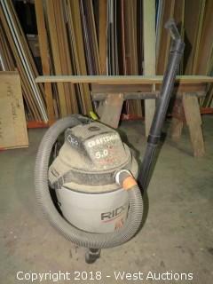 5 Gallon Shop Vac Craftsman 5.0Hp w/ Ridgid Can