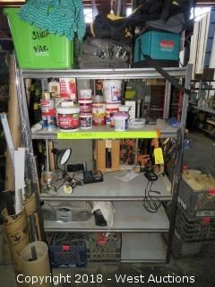 6' Steel Shelf W/ Contents