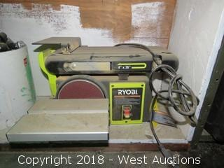 "Ryobi  4"" and 6"" Belt and Disc Sander"